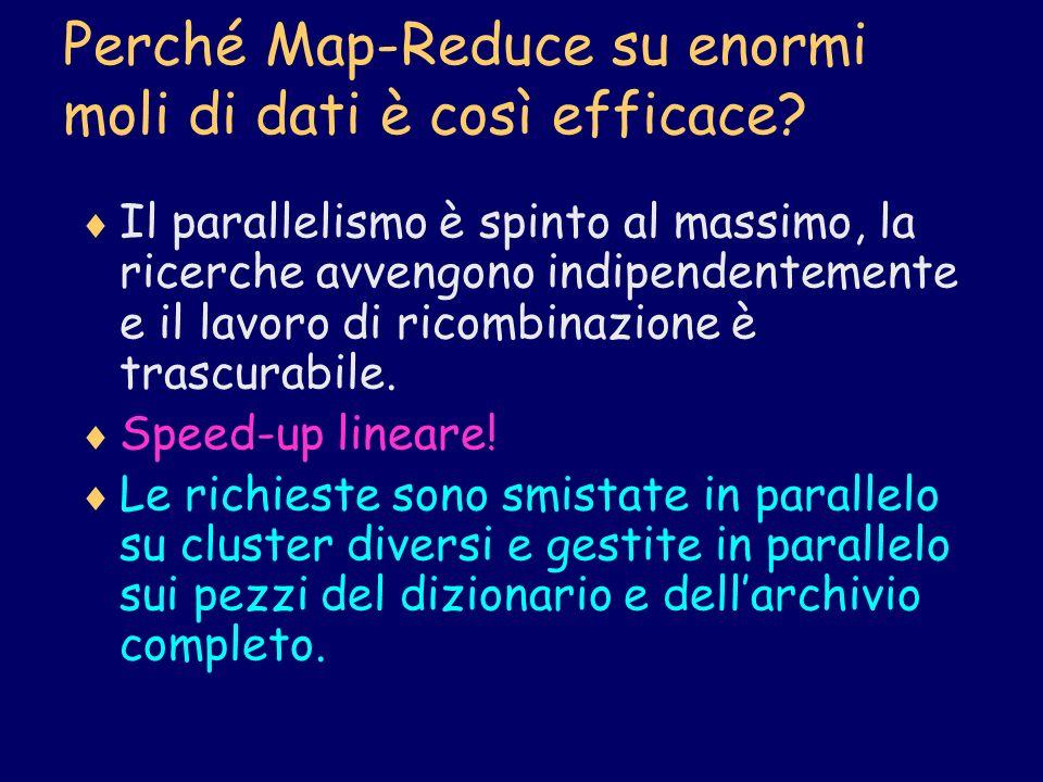 Perché Map-Reduce su enormi moli di dati è così efficace