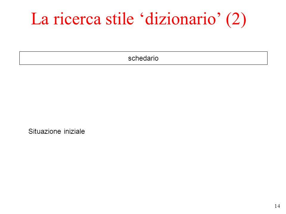 La ricerca stile 'dizionario' (2)