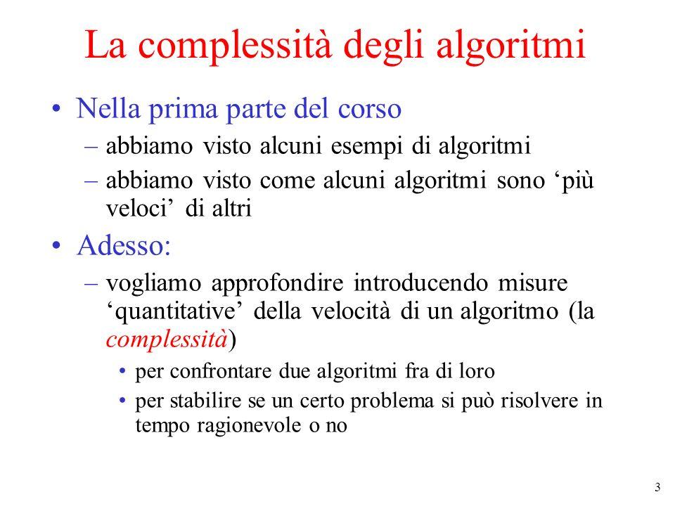 La complessità degli algoritmi