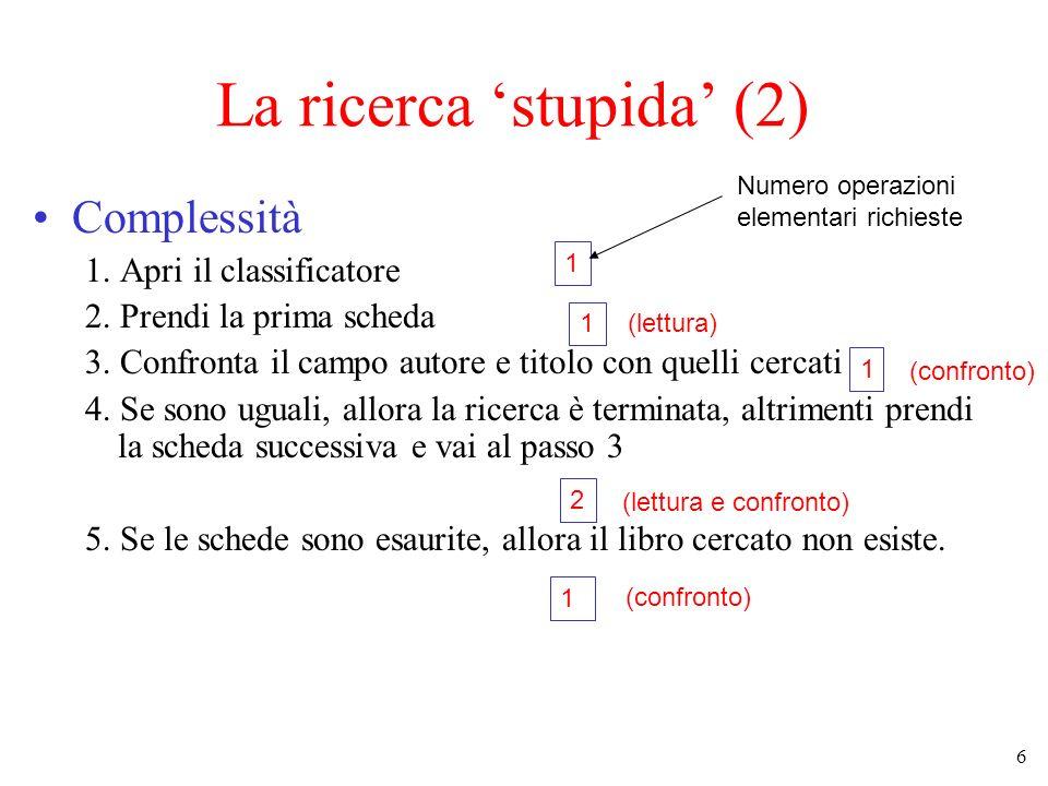 La ricerca 'stupida' (2)