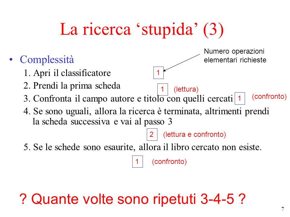 La ricerca 'stupida' (3)