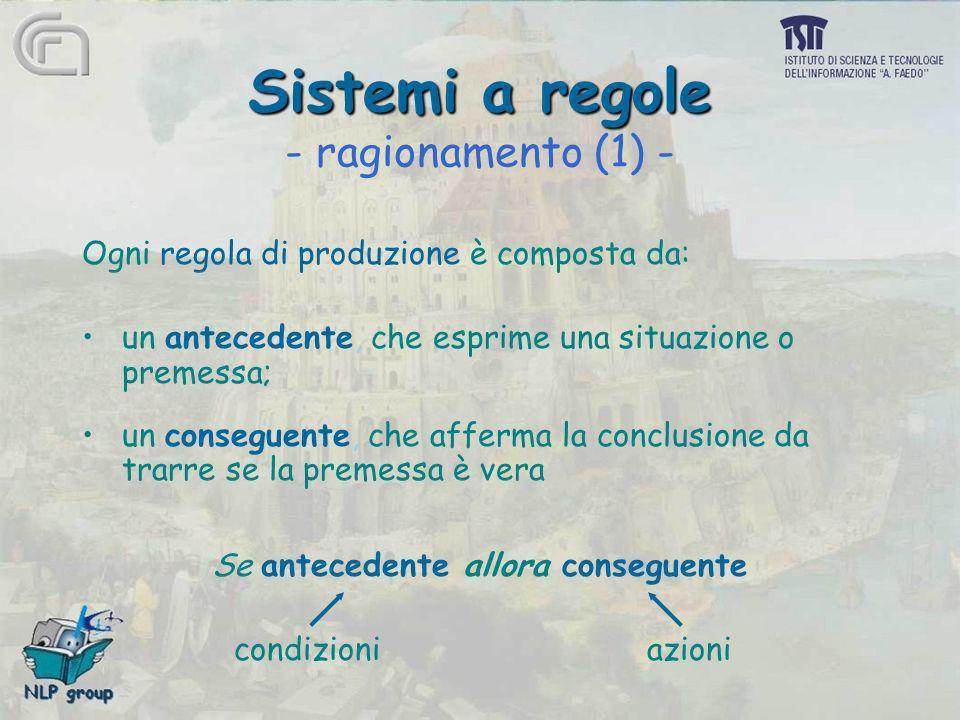 Sistemi a regole - ragionamento (1) -