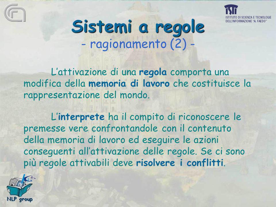 Sistemi a regole - ragionamento (2) -