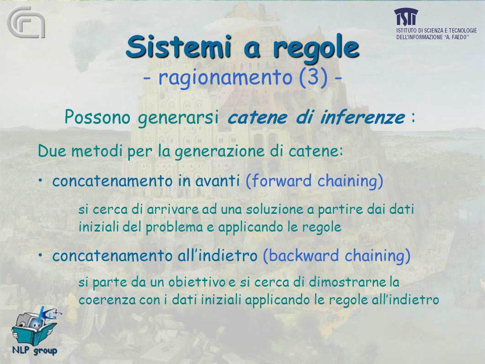 Sistemi a regole - ragionamento (3) -