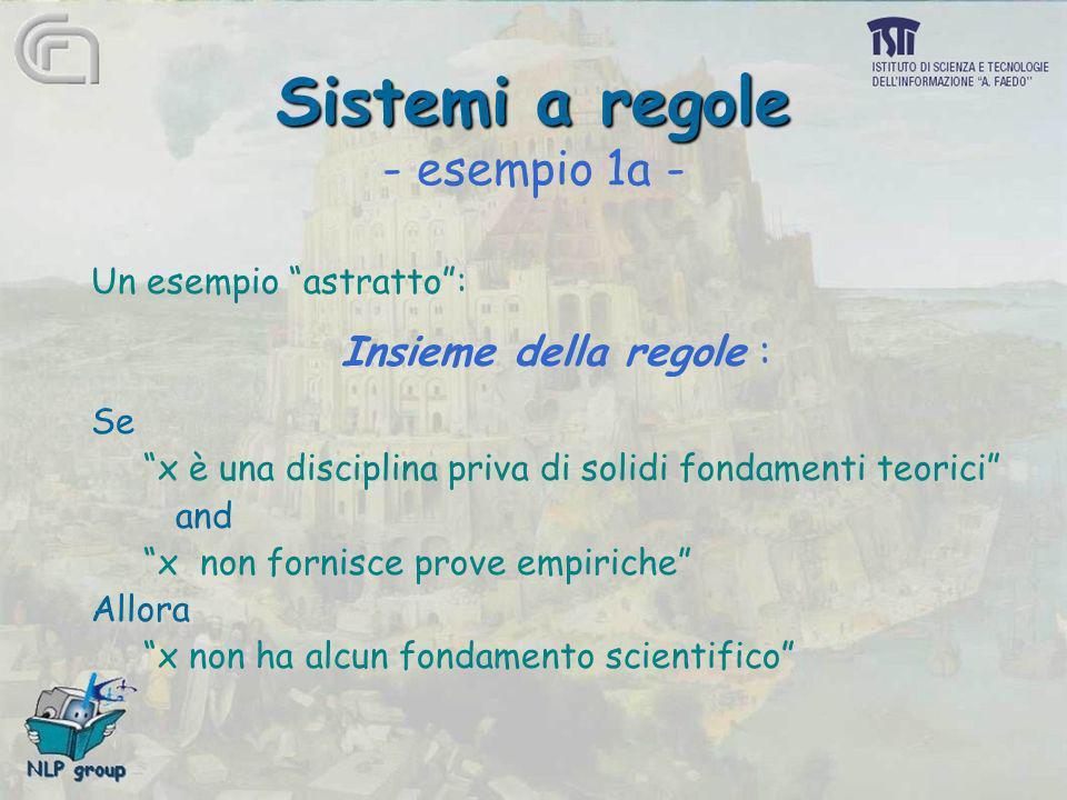 Sistemi a regole - esempio 1a -