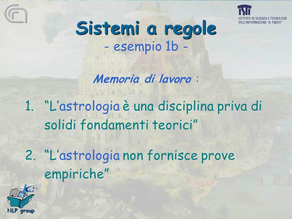 Sistemi a regole - esempio 1b -