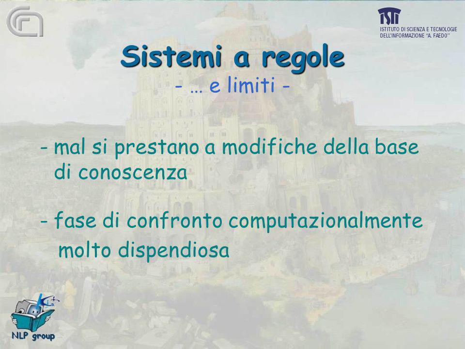 Sistemi a regole - … e limiti -