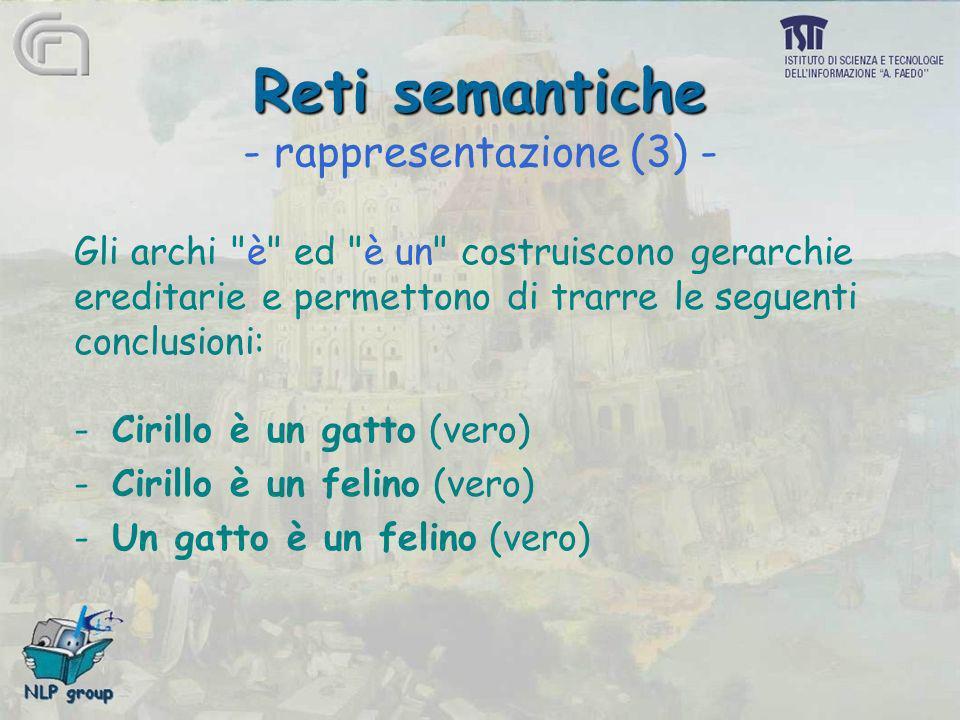 Reti semantiche - rappresentazione (3) -