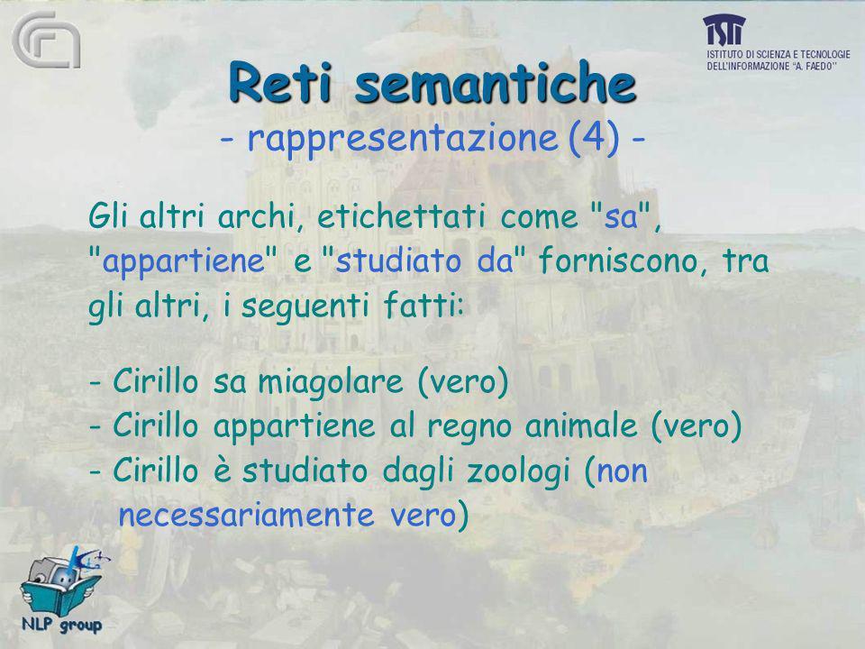Reti semantiche - rappresentazione (4) -