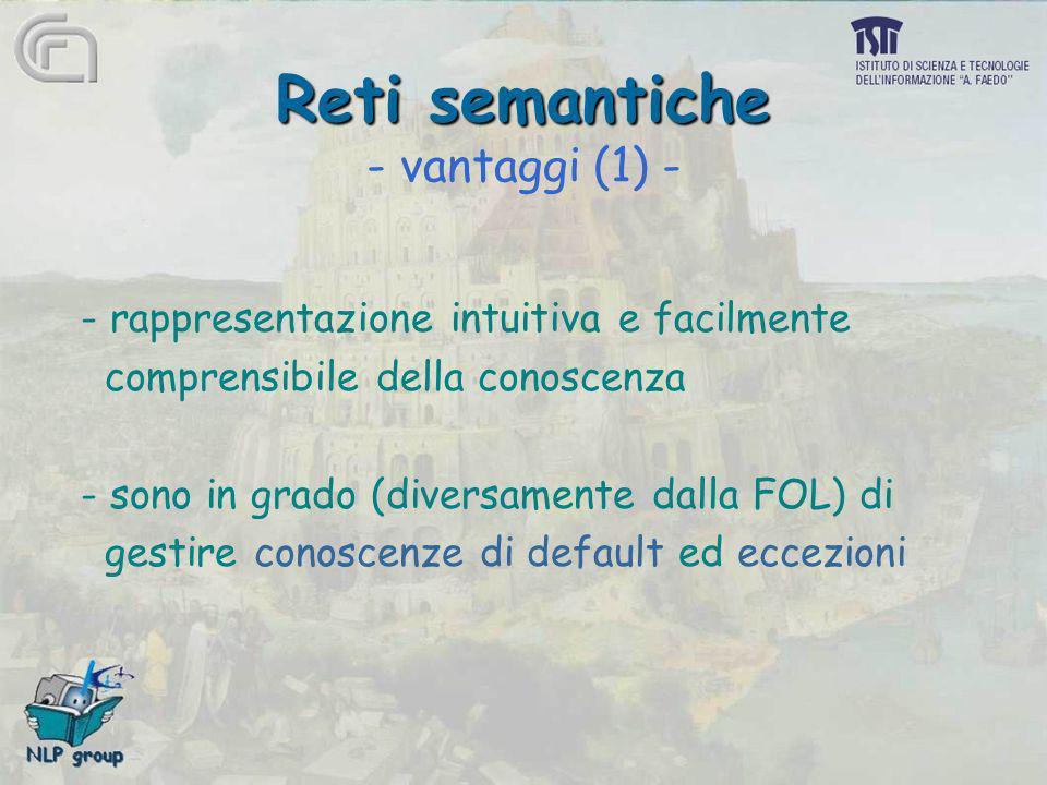 Reti semantiche - vantaggi (1) -