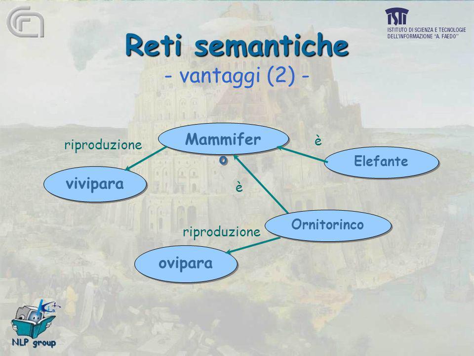 Reti semantiche - vantaggi (2) -