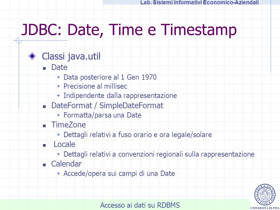 JDBC: Date, Time e Timestamp