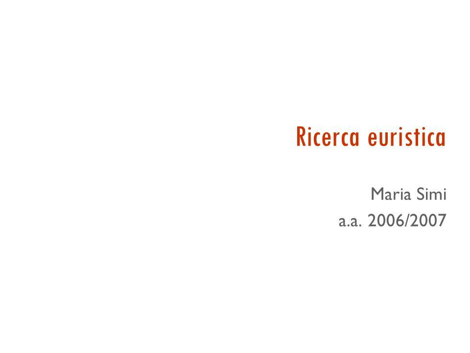 Ricerca euristica Maria Simi a.a. 2006/2007 27/03/2017