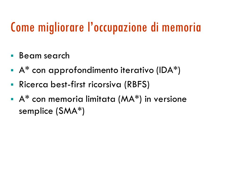 Come migliorare l'occupazione di memoria