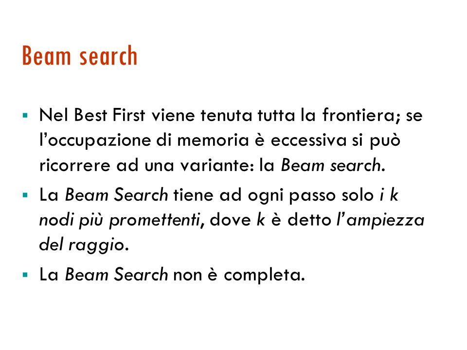 27/03/2017 Beam search.