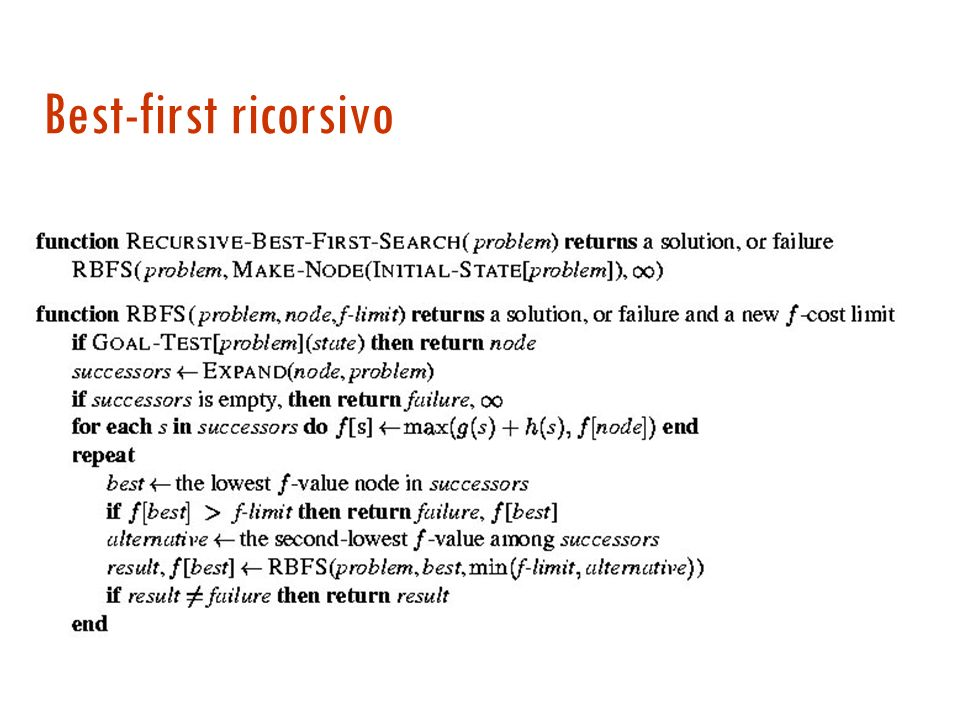 Best-first ricorsivo 27/03/2017