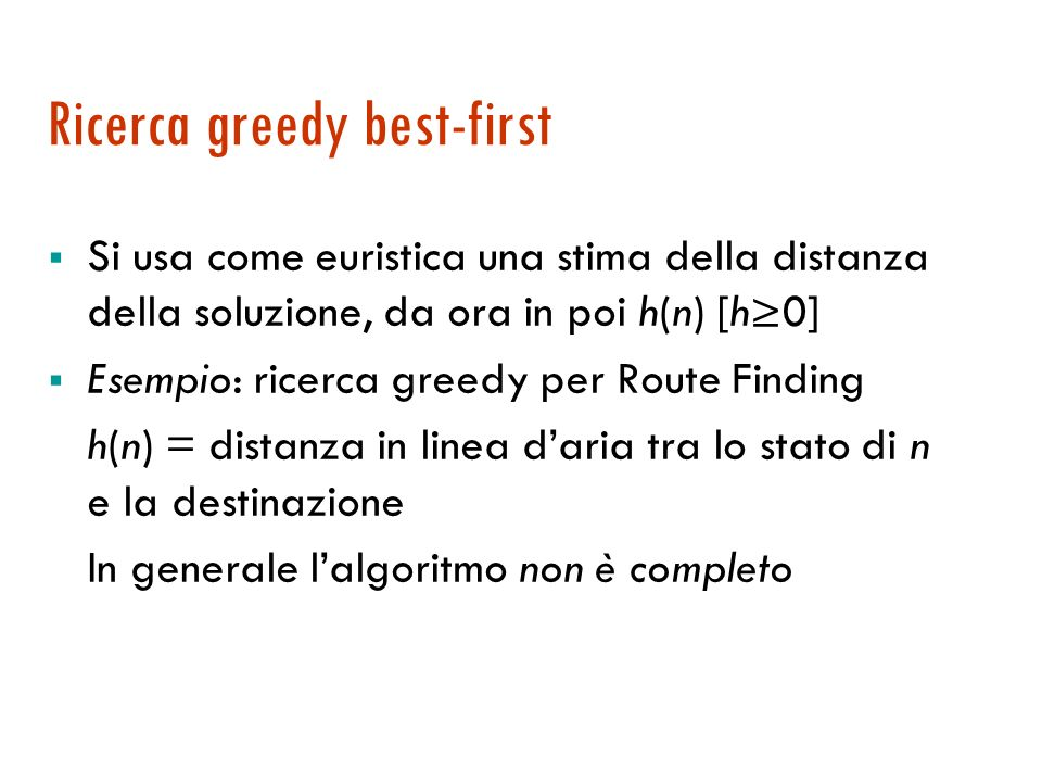 Ricerca greedy best-first
