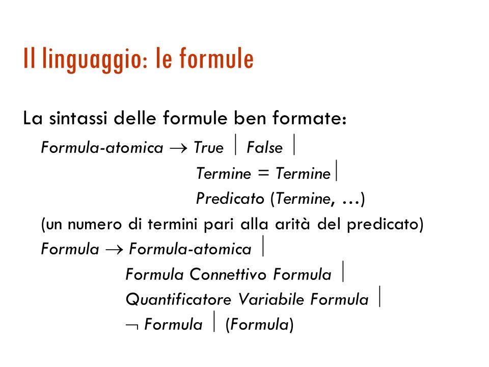 Il linguaggio: le formule