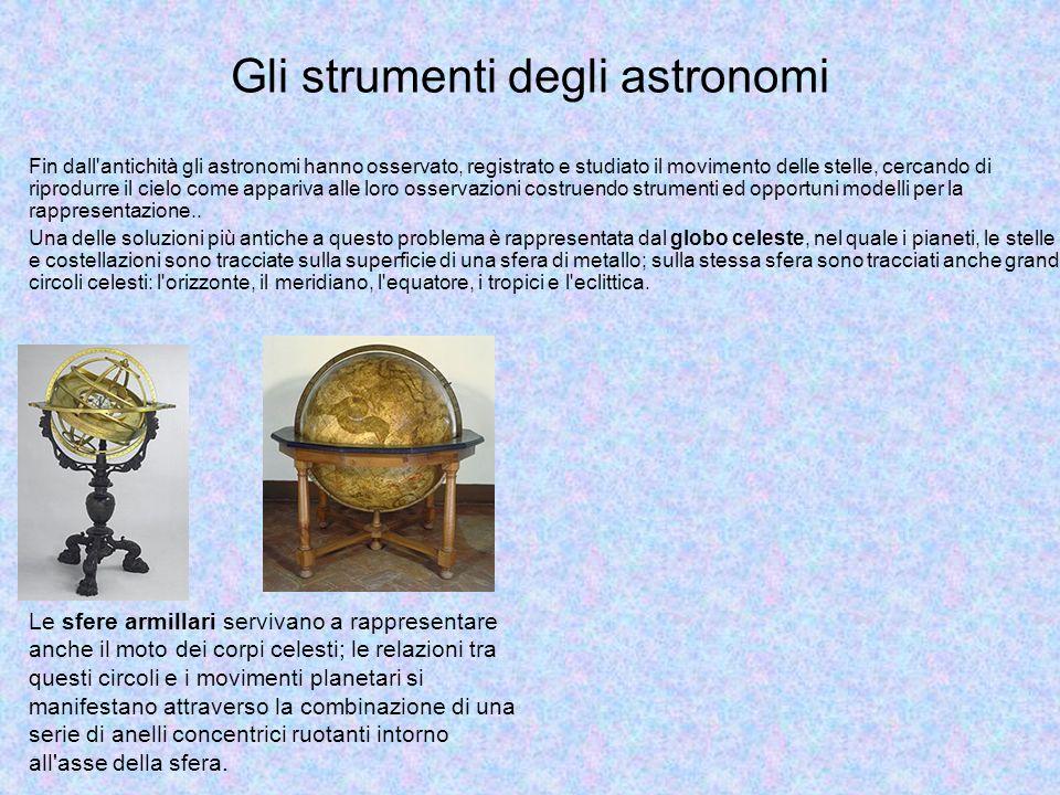 Gli strumenti degli astronomi