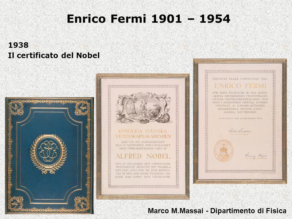 1938 Il certificato del Nobel