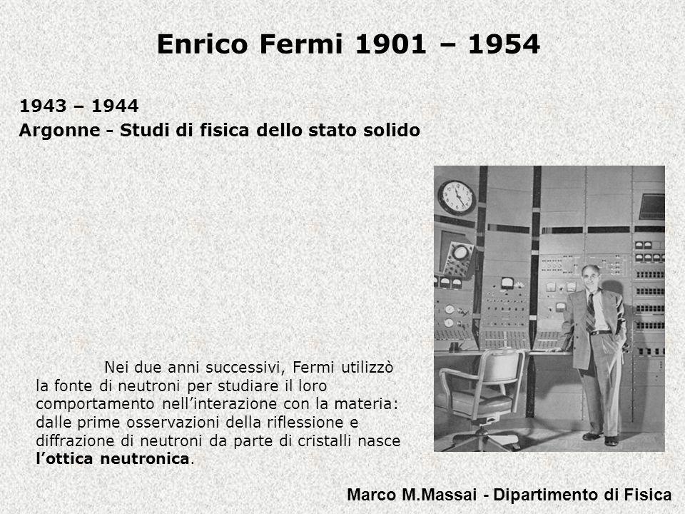 1943 – 1944 Argonne - Studi di fisica dello stato solido