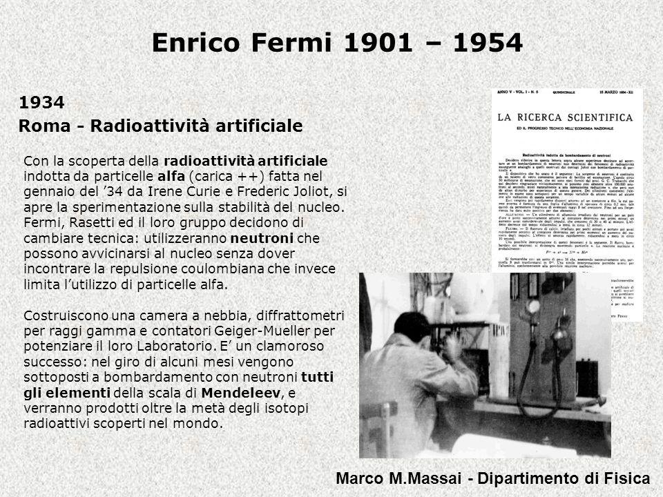 1934 Roma - Radioattività artificiale