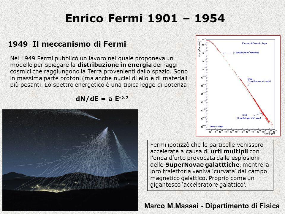Enrico Fermi 1901 – 1954 1949 Il meccanismo di Fermi