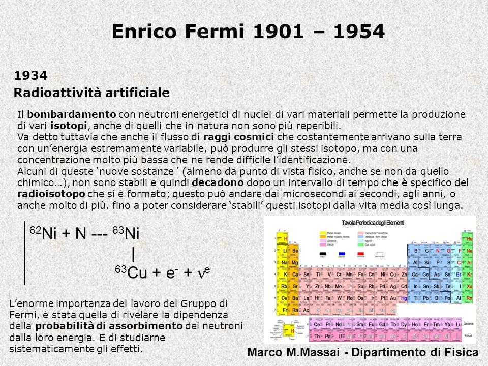 1934 Radioattività artificiale