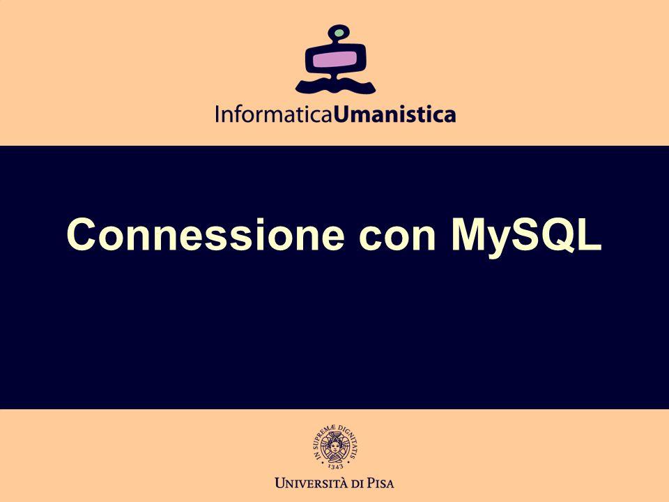 Connessione con MySQL