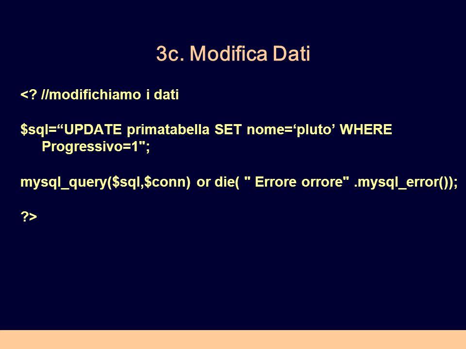 3c. Modifica Dati < //modifichiamo i dati