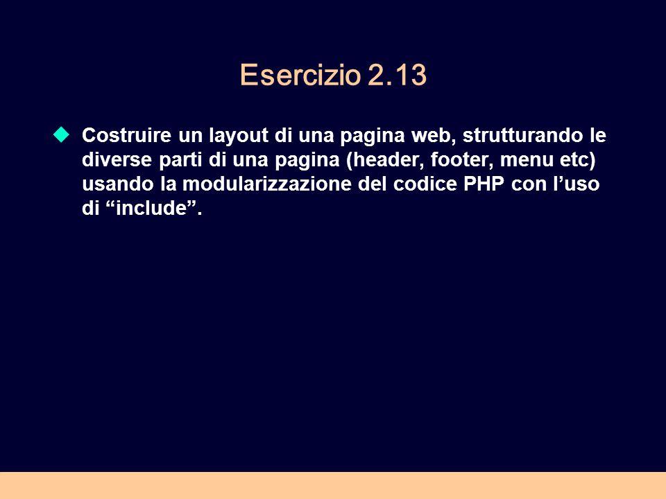 Esercizio 2.13