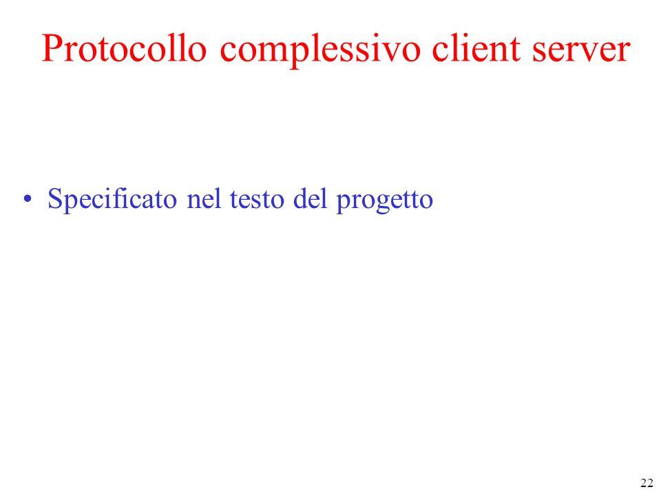 Protocollo complessivo client server