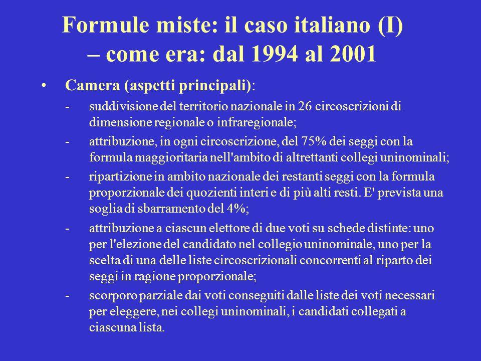 Formule miste: il caso italiano (I)