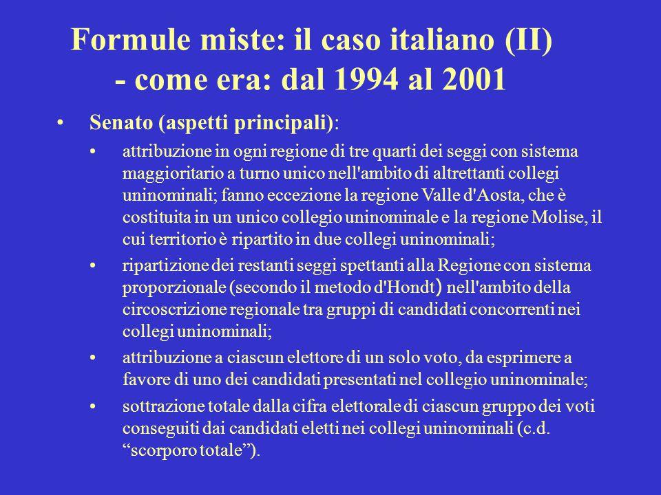 Formule miste: il caso italiano (II)