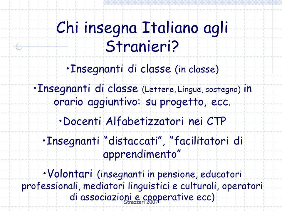 Chi insegna Italiano agli Stranieri