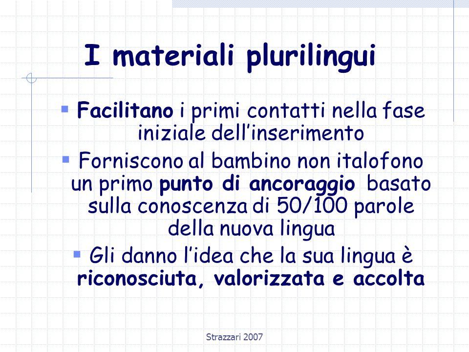 I materiali plurilingui
