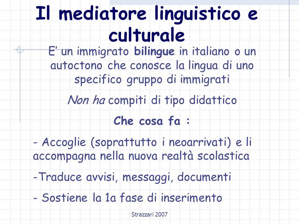 Il mediatore linguistico e culturale