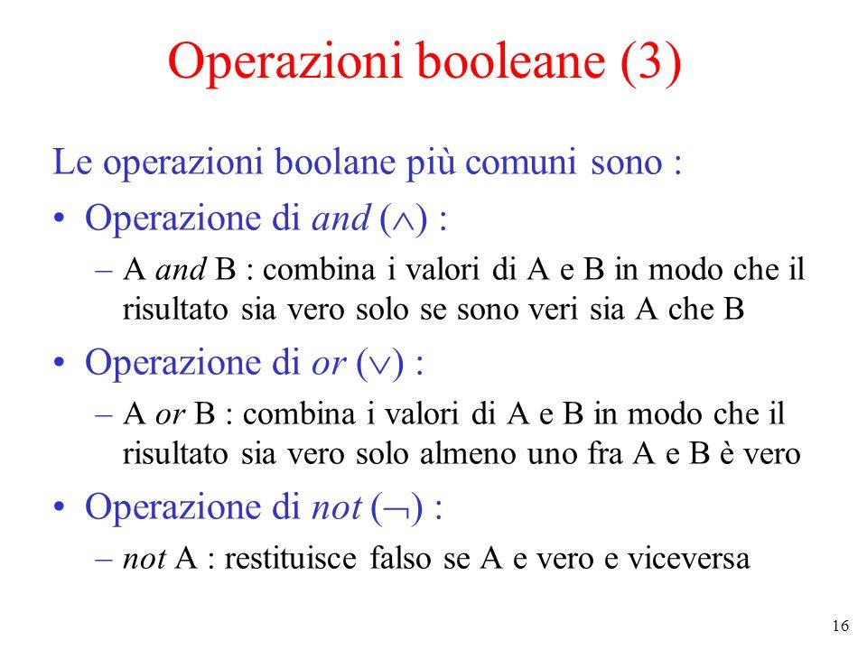 Operazioni booleane (3)