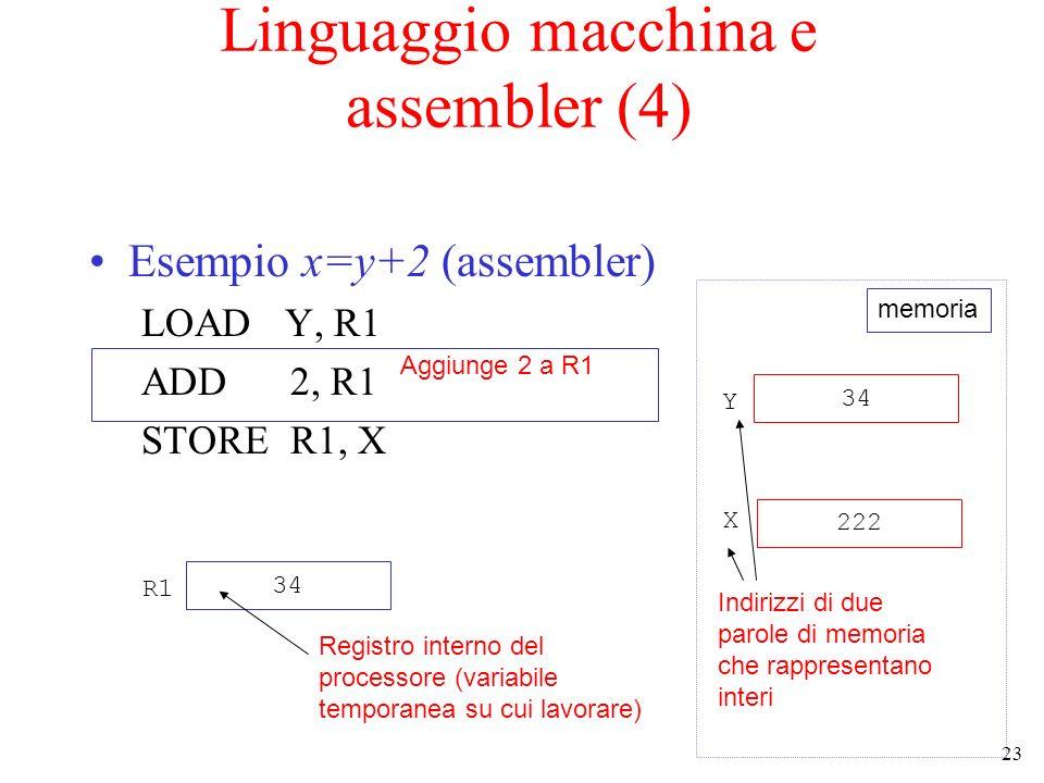 Linguaggio macchina e assembler (4)