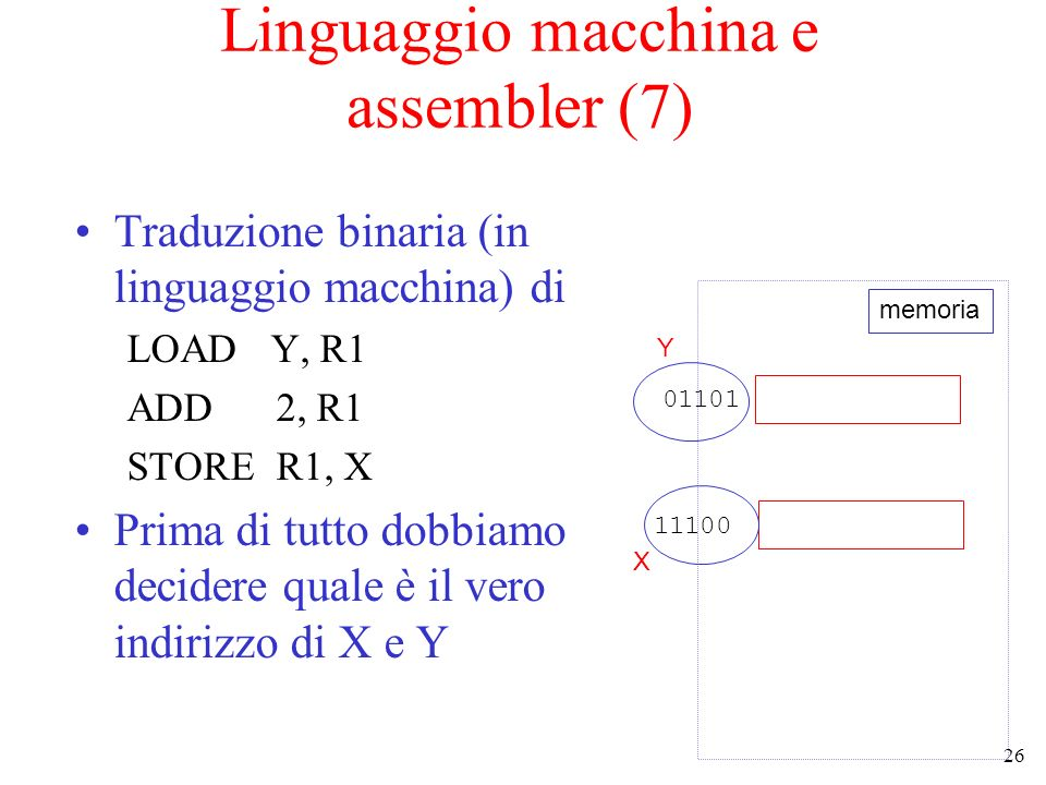 Linguaggio macchina e assembler (7)