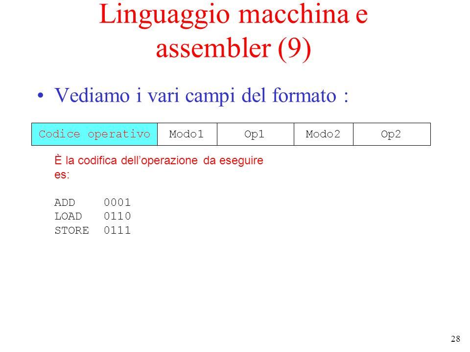 Linguaggio macchina e assembler (9)