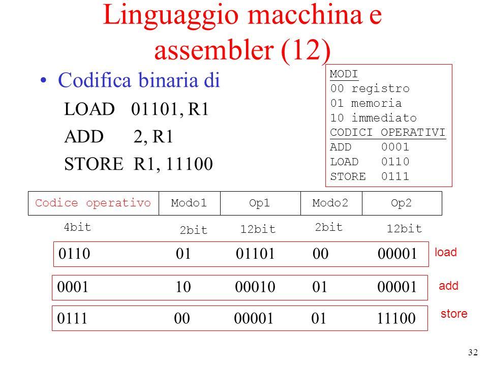Linguaggio macchina e assembler (12)