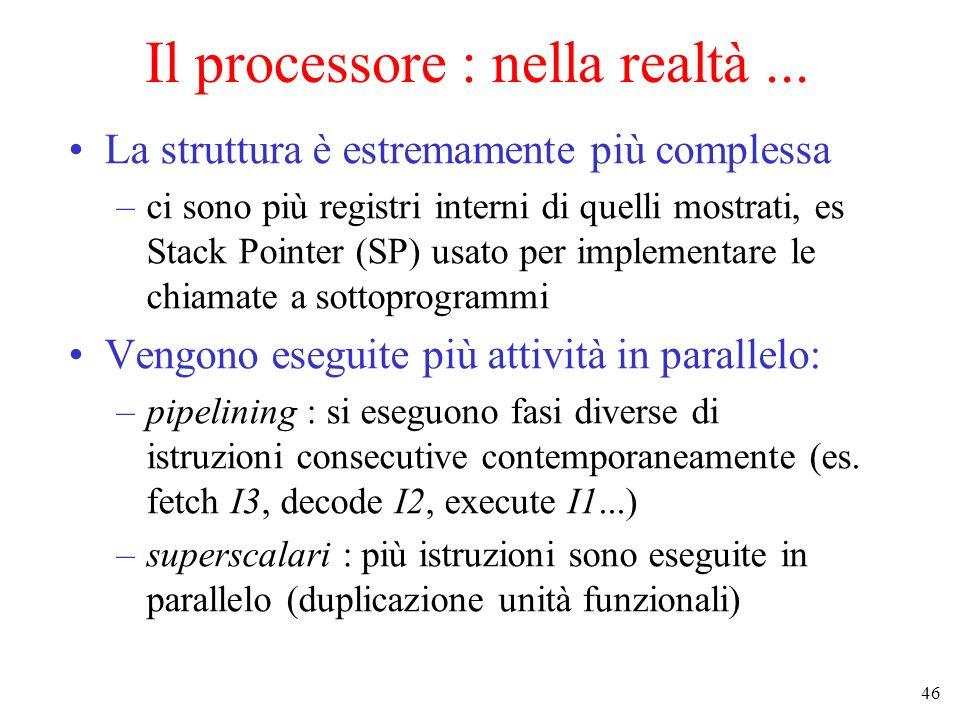 Il processore : nella realtà ...