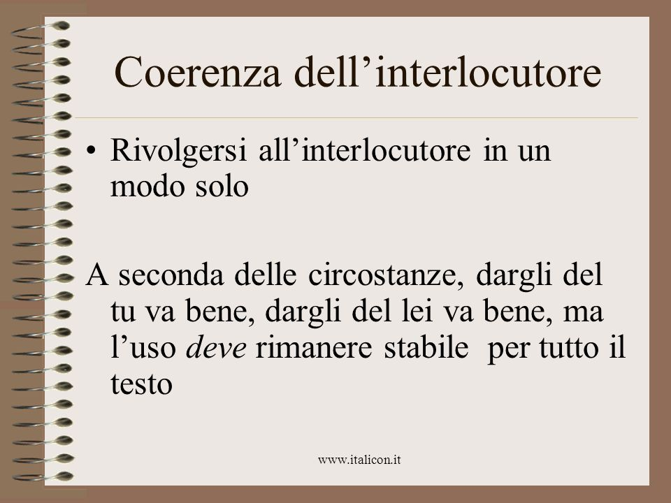 Coerenza dell'interlocutore