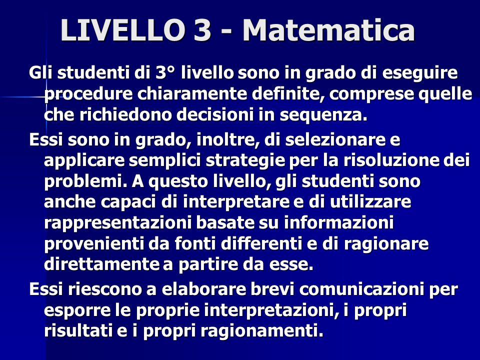 LIVELLO 3 - Matematica