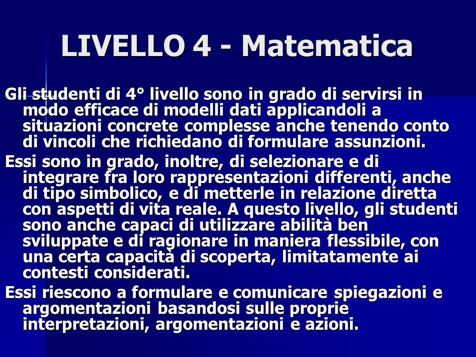 LIVELLO 4 - Matematica