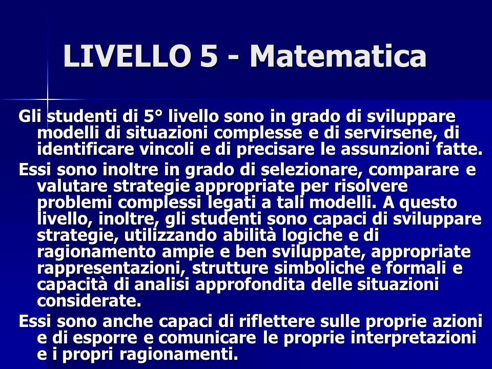 LIVELLO 5 - Matematica