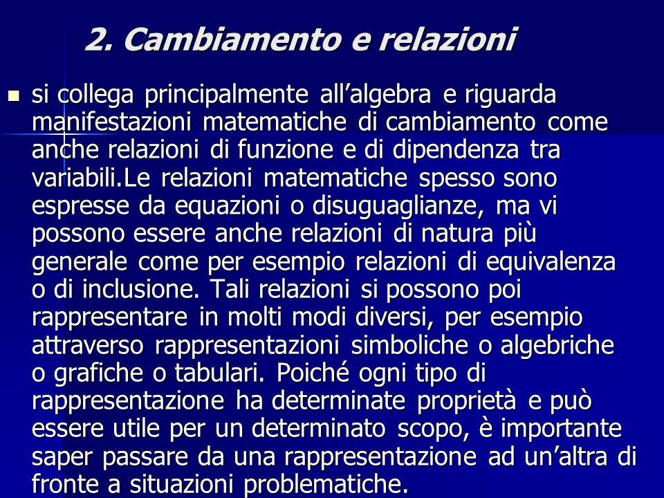 2. Cambiamento e relazioni