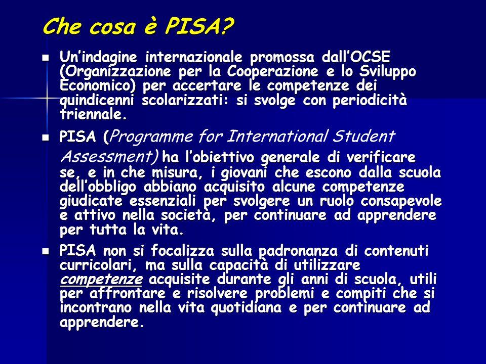 Che cosa è PISA