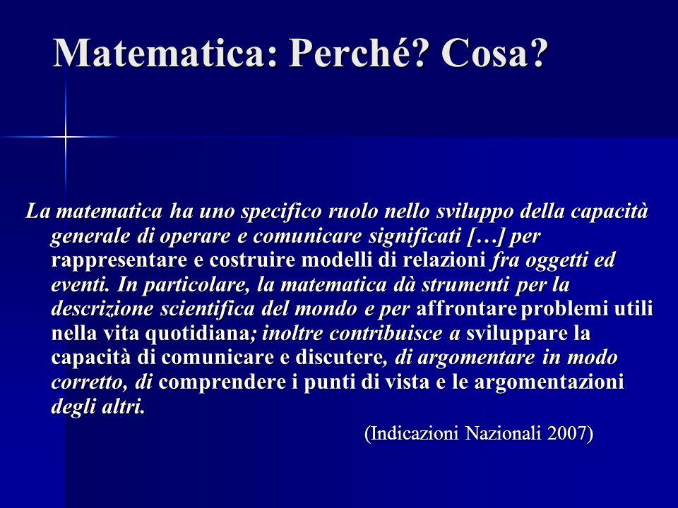 Matematica: Perché Cosa